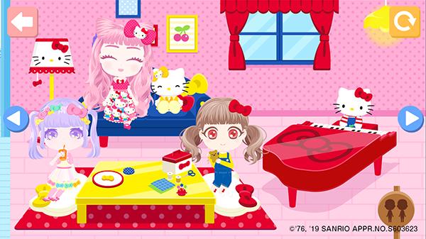 着せ替え遊びアプリ「おしゃにまる 」に新パック「ハローキティとミミィのおうち」が登場!