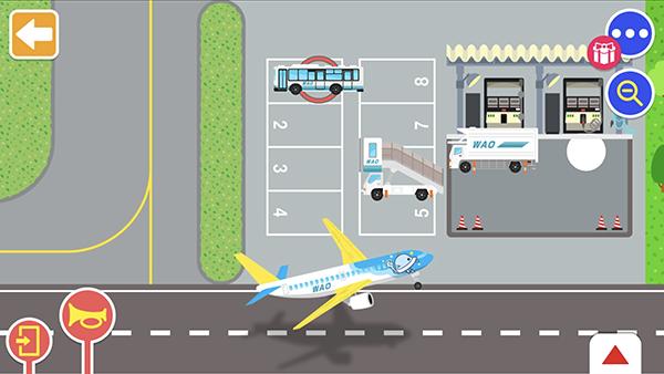 いろいろなマップで乗り物遊びができるアプリ『のりものワールド』に新しく「はたらく!エアポートセット」が登場!